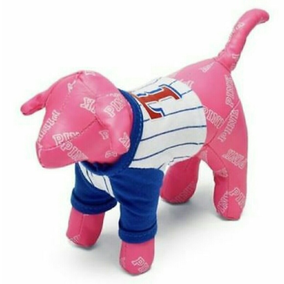 best service 6fcd3 7075c VS PINK Texas Rangers MLB Mini Dog NWT